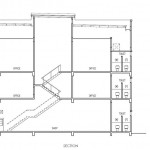 Prominence 3 storey shop office section view
