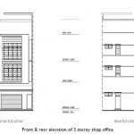 prominence 3 storey shop office front and rear