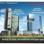 Artist's impression of the future BPO towers on current PDC's site