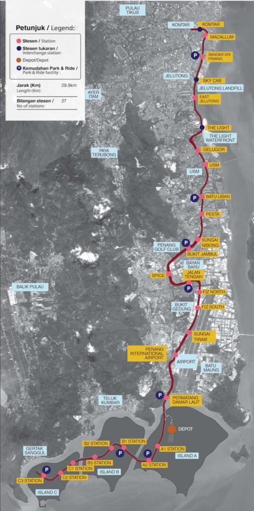 Bayan-Lepas-LRT-Map