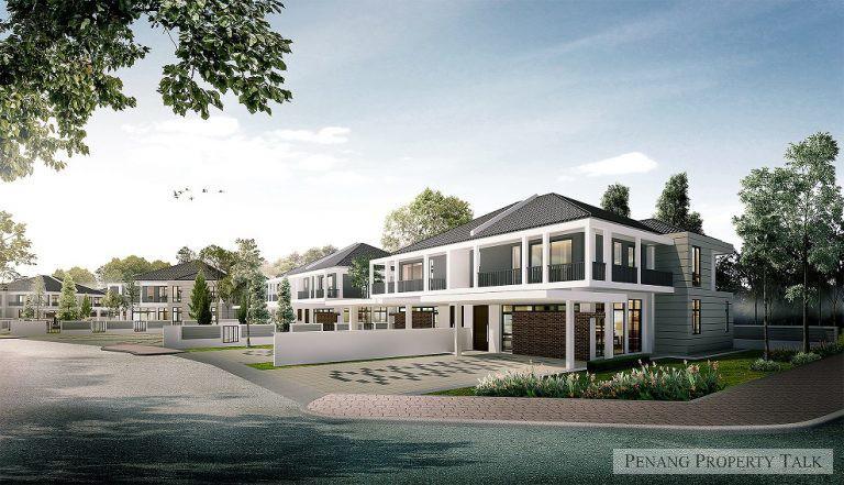 Double-storey semi-detached villas near AEON Mall Project details